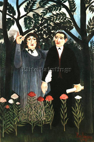 HENRI ROUSSEAU ROUSS69 ARTIST PAINTING REPRODUCTION HANDMADE CANVAS REPRO WALL