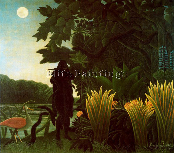 HENRI ROUSSEAU ROUSS70 ARTIST PAINTING REPRODUCTION HANDMADE CANVAS REPRO WALL