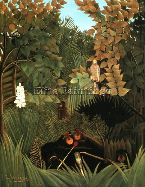 HENRI ROUSSEAU ROUSS71 ARTIST PAINTING REPRODUCTION HANDMADE CANVAS REPRO WALL