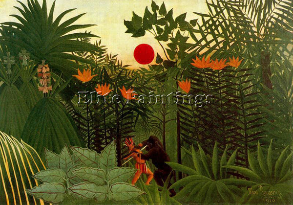 HENRI ROUSSEAU ROUSS72 ARTIST PAINTING REPRODUCTION HANDMADE CANVAS REPRO WALL