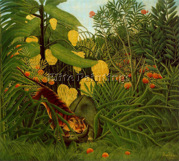 HENRI ROUSSEAU ROUSS75 ARTIST PAINTING REPRODUCTION HANDMADE CANVAS REPRO WALL