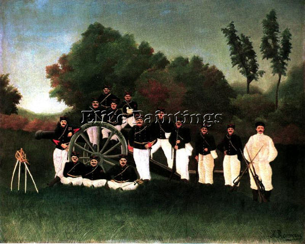 HENRI ROUSSEAU ROUSS77 ARTIST PAINTING REPRODUCTION HANDMADE CANVAS REPRO WALL