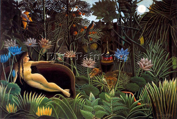 HENRI ROUSSEAU ROUSS79 ARTIST PAINTING REPRODUCTION HANDMADE CANVAS REPRO WALL