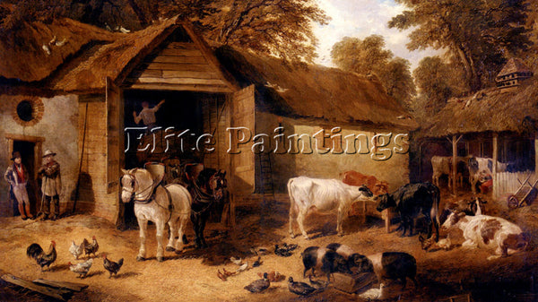 JOHN FREDERICK HERRING THE FARMYARD3 ARTIST PAINTING REPRODUCTION HANDMADE OIL