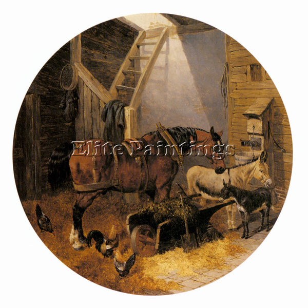 JOHN FREDERICK HERRING THE FARMYARD4 ARTIST PAINTING REPRODUCTION HANDMADE OIL