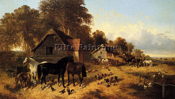JOHN FREDERICK HERRING A FLOURISHING FARMYARD ARTIST PAINTING REPRODUCTION OIL