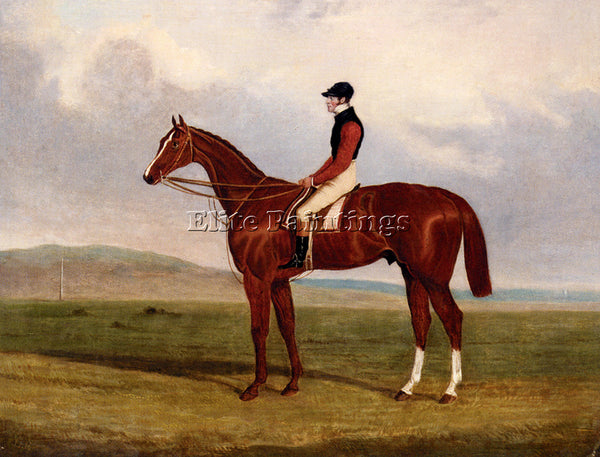 JOHN FREDERICK HERRING FLEXIBLE ELIS CHESTNUT RACEHORSE WITH JOHN DAY UP ARTIST