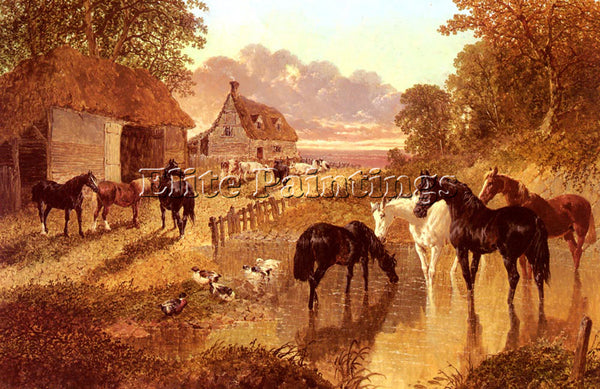 JOHN FREDERICK HERRING THE EVENING HOUR ARTIST PAINTING REPRODUCTION HANDMADE