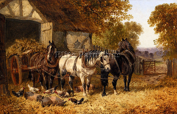 JOHN FREDERICK HERRING THE HAY CART ARTIST PAINTING REPRODUCTION HANDMADE OIL
