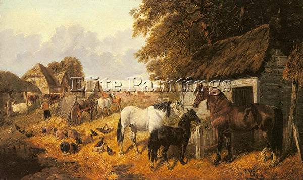 JOHN FREDERICK HERRING  BRINGING IN THE HAY ARTIST PAINTING HANDMADE OIL CANVAS