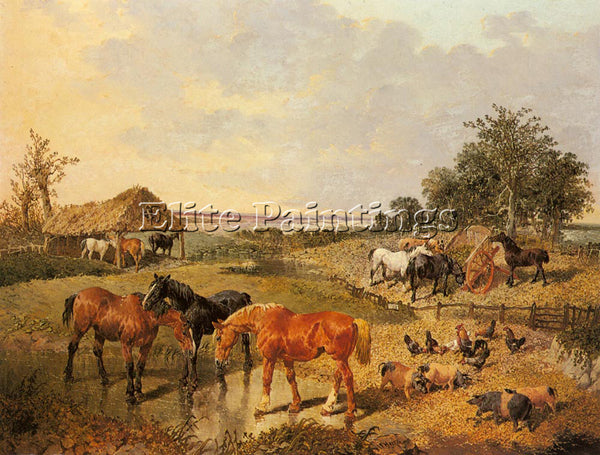 JOHN FREDERICK HERRING  COUNTRY LIFE ARTIST PAINTING REPRODUCTION HANDMADE OIL