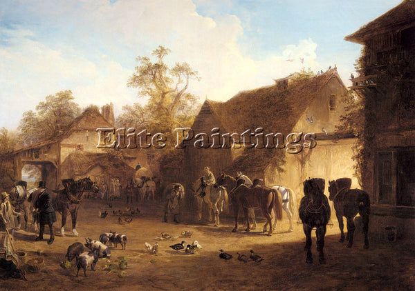 JOHN FREDERICK HERRING  THE COUNTRY INN ARTIST PAINTING REPRODUCTION HANDMADE