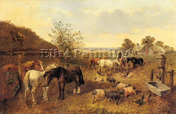 JOHN FREDERICK HERRING A FARMSTEAD ARTIST PAINTING REPRODUCTION HANDMADE OIL ART