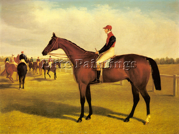 HERRING DON JOHN WINNER 1838 ST LEGER WITH WILLIAM SCOTT UP ARTIST PAINTING OIL