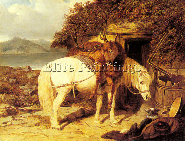 JOHN FREDERICK HERRING THE END OF THE DAY ARTIST PAINTING REPRODUCTION HANDMADE