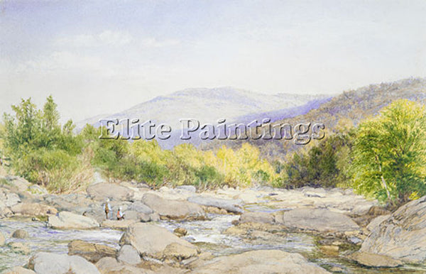 JOHN WILLIAM HILL LANDSCAPE VIEW ON CATSKILL CREEK ARTIST PAINTING REPRODUCTION