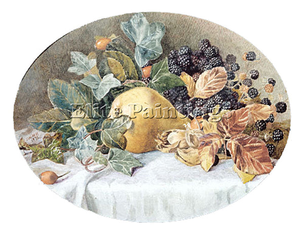 JOHN WILLIAM HILL STILL LIFE WITH FRUIT ARTIST PAINTING REPRODUCTION HANDMADE