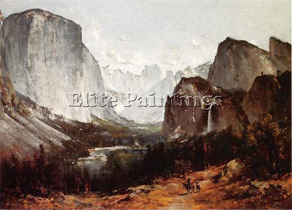 THOMAS HILL A VIEW OF YOSEMITE VALLEY ARTIST PAINTING REPRODUCTION HANDMADE OIL