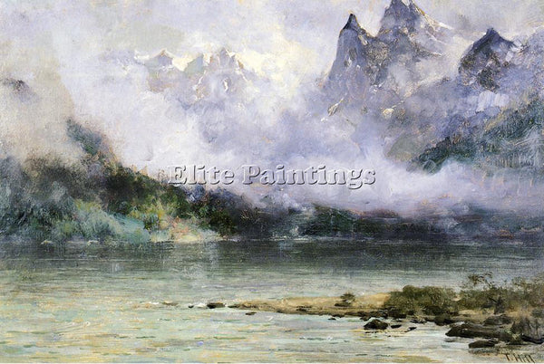 THOMAS HILL ALASKA SCENE NEAR JUNEAU ARTIST PAINTING REPRODUCTION HANDMADE OIL