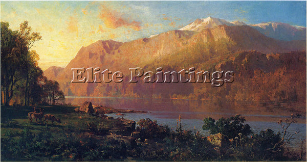 THOMAS HILL EMERALD LAKE NEAR TAHOE ARTIST PAINTING REPRODUCTION HANDMADE OIL