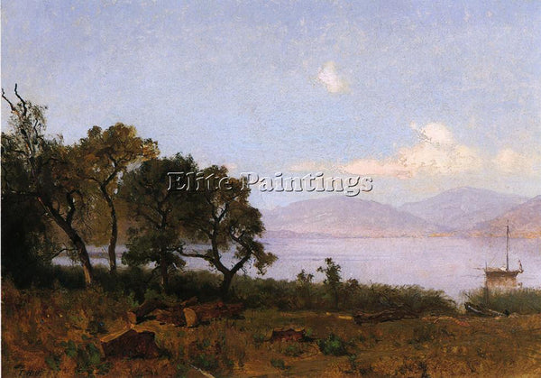 THOMAS HILL MORNING CLEAR LAKE ARTIST PAINTING REPRODUCTION HANDMADE OIL CANVAS