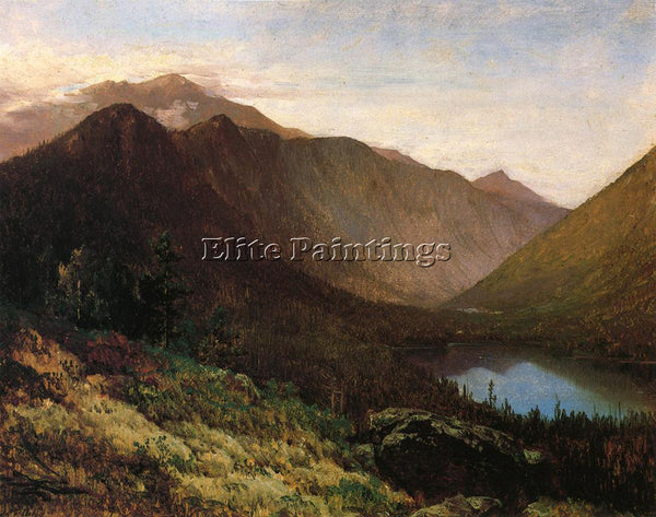 THOMAS HILL MOUNT LAFAYETTE FRANCONIA NOTCH NEW HAMPSHIRE ARTIST PAINTING CANVAS