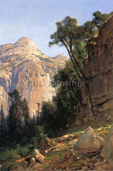 THOMAS HILL NORTH DOME YOSEMITE VALLEY ARTIST PAINTING REPRODUCTION HANDMADE OIL