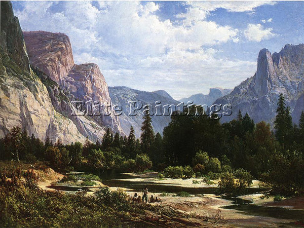 THOMAS HILL RESTING BY A STREAM ARTIST PAINTING REPRODUCTION HANDMADE OIL CANVAS