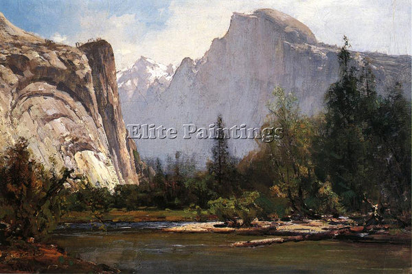 THOMAS HILL ROYAL ARCHES AND HALF DOME YOSEMITE ARTIST PAINTING REPRODUCTION OIL