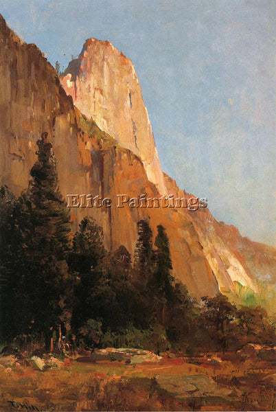THOMAS HILL SENTINEL ROCK YOSEMITE ARTIST PAINTING REPRODUCTION HANDMADE OIL ART