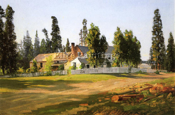 THOMAS HILL SISSON S INN NEAR MOUNT SHASTA ARTIST PAINTING REPRODUCTION HANDMADE