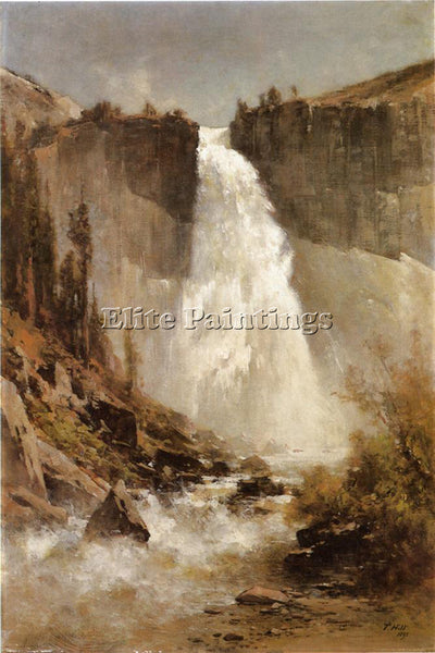 THOMAS HILL THE FALLS OF YOSEMITE ARTIST PAINTING REPRODUCTION HANDMADE OIL DECO