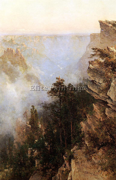 THOMAS HILL YOSEMITE CANYON ARTIST PAINTING REPRODUCTION HANDMADE OIL CANVAS ART