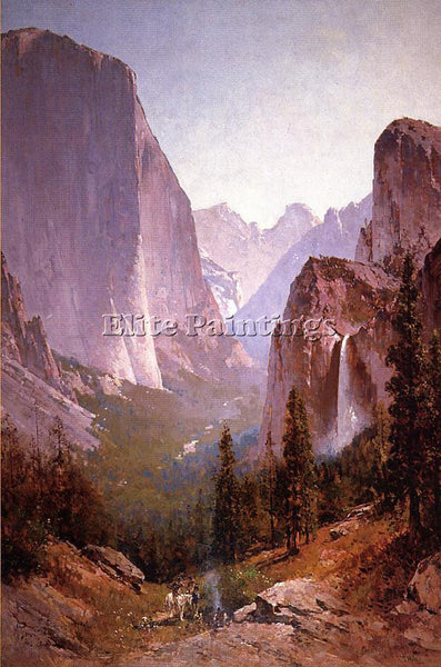 THOMAS HILL YOSEMITE ARTIST PAINTING REPRODUCTION HANDMADE OIL CANVAS REPRO WALL