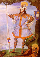 BRITISH HILLIARD NICHOLAS ENGLISH 1547 1619 1 ARTIST PAINTING REPRODUCTION OIL