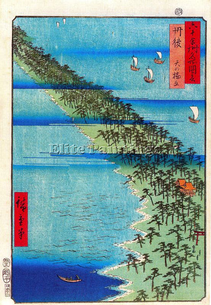 HIROSHIGE ANDO ANDO55 ARTIST PAINTING REPRODUCTION HANDMADE OIL CANVAS REPRO ART