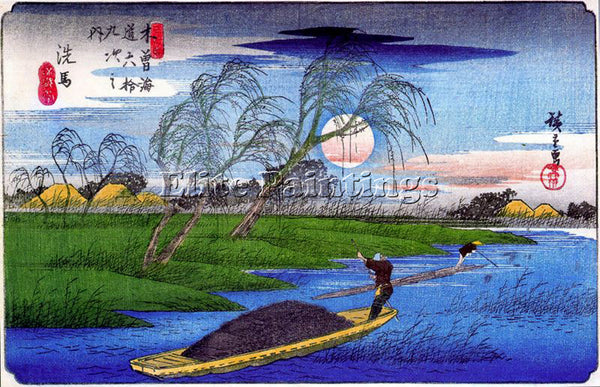 HIROSHIGE ANDO ANDO56 ARTIST PAINTING REPRODUCTION HANDMADE OIL CANVAS REPRO ART