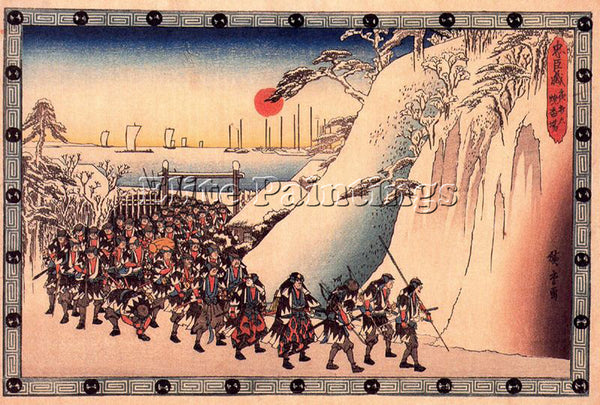 HIROSHIGE ANDO ANDO63 ARTIST PAINTING REPRODUCTION HANDMADE OIL CANVAS REPRO ART