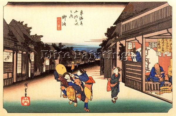 HIROSHIGE ANDO ANDO64 ARTIST PAINTING REPRODUCTION HANDMADE OIL CANVAS REPRO ART