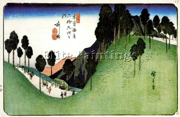 HIROSHIGE ANDO ANDO78 ARTIST PAINTING REPRODUCTION HANDMADE OIL CANVAS REPRO ART