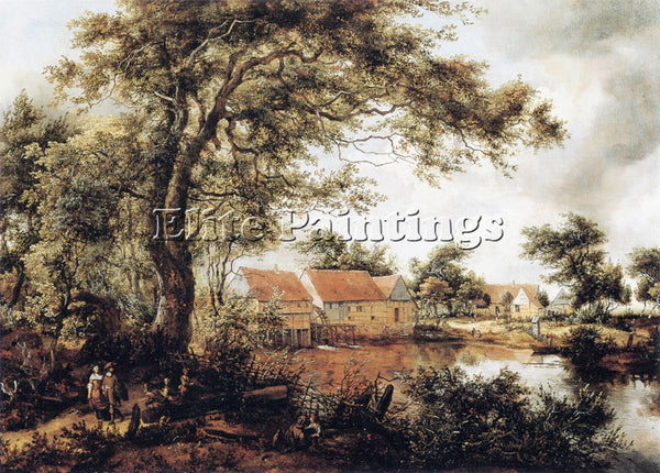 MEINDERT HOBBEMA HOBB1 ARTIST PAINTING REPRODUCTION HANDMADE CANVAS REPRO WALL