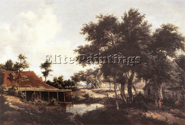 MEINDERT HOBBEMA THE WATER MILL 1663 8 ARTIST PAINTING REPRODUCTION HANDMADE OIL