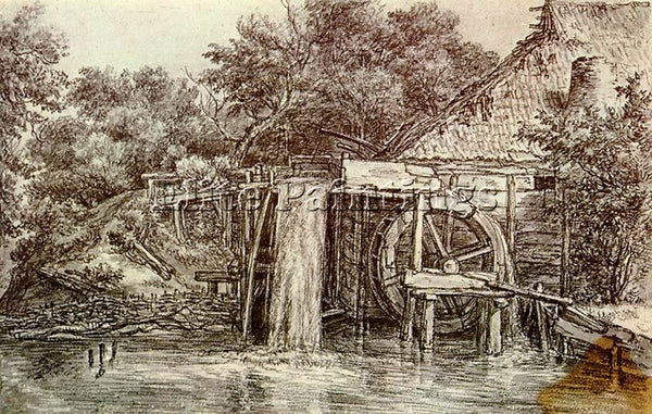 MEINDERT HOBBEMA WATERMILL ARTIST PAINTING REPRODUCTION HANDMADE OIL CANVAS DECO