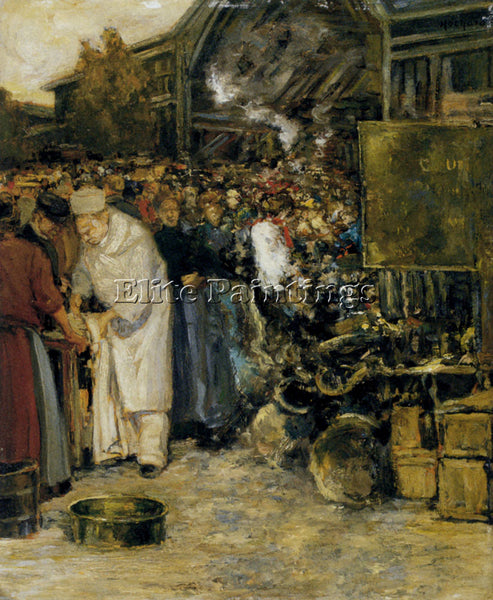 FRENCH HOCHARD GASTON AT THE MARKETPLACE ARTIST PAINTING REPRODUCTION HANDMADE