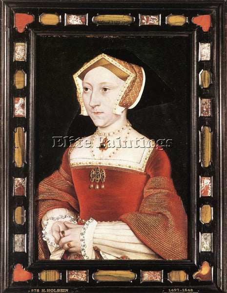 HANS HOLBEIN THE YOUNGER PORTRAIT OF JANE SEYMOUR ARTIST PAINTING REPRODUCTION
