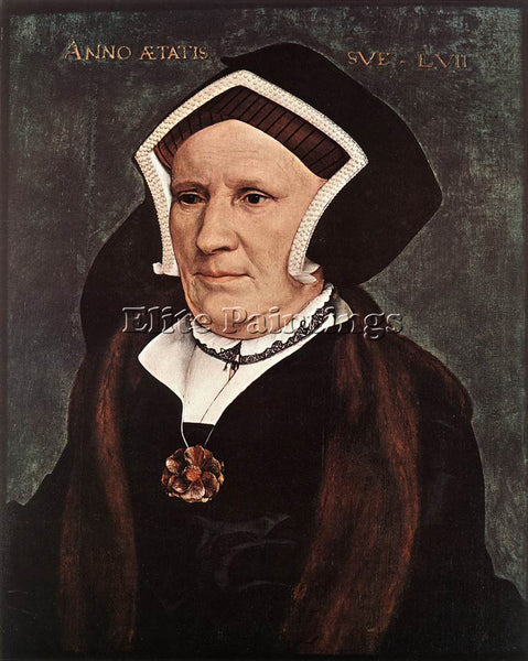 HANS HOLBEIN THE YOUNGER PORTRAIT OF LADY MARGARET BUTTS ARTIST PAINTING CANVAS
