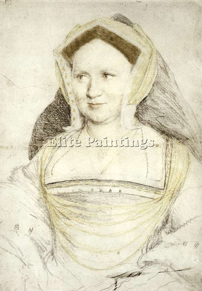 HANS HOLBEIN THE YOUNGER PORTRAIT OF LADY MARY GUILDFORD ARTIST PAINTING CANVAS