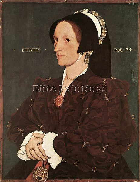 HANS HOLBEIN THE YOUNGER PORTRAIT OF MARGARET WYATT LADY LEE ARTIST PAINTING OIL