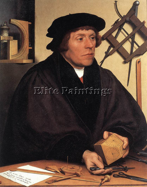 HANS HOLBEIN THE YOUNGER PORTRAIT OF NIKOLAUS KRATZER ARTIST PAINTING HANDMADE