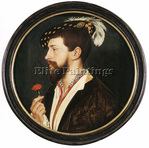 HANS HOLBEIN THE YOUNGER PORTRAIT OF SIMON GEORGE ARTIST PAINTING REPRODUCTION